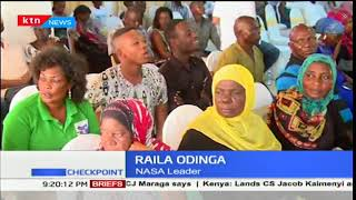 Raila Odinga promises a contingent of NASA leaders of his swearing in while in Kilifi