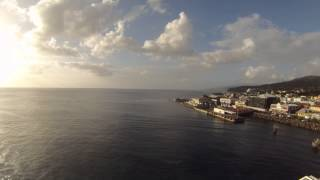 preview picture of video 'Roseau, Dominica - Jewel of the Seas Departure Time Lapse HD (2015)'