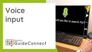 How to use GuideConnect - Voice Input (English Speaking)
