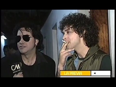 Gustavo Cerati video Entrevista 1998 - Backstage 7 Delfines
