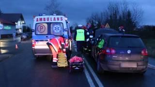Wypadek w Łężanach, moment zderzenia