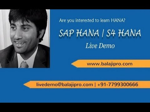 SAP HANA training videos for beginners