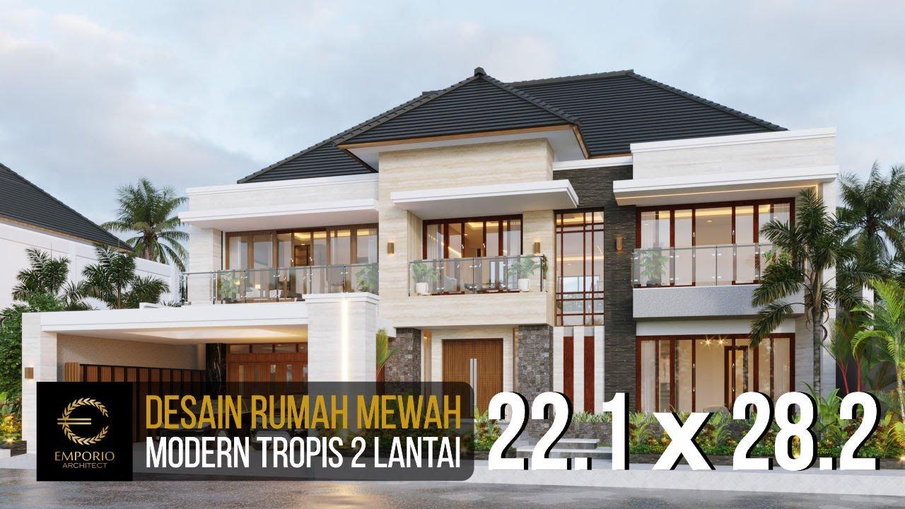 Video 3D Mr. Daniel Modern House 2 Floors Design - Bengkulu