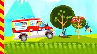 Мультик про больницу и смешных докторов. Скорая помощь для детей. Веселые машинки