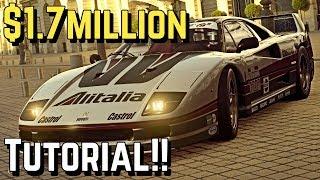 $1.7 MILLION/Hour (Ferrari F40) Setup on GT SPORT!!