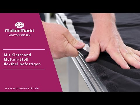 Mit Klettband Stoff flexibel befestigen 🧷| MoltonMarkt