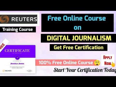 Digital Journalism Free Online Course with Free Certification   Best Online Course   100% Free.