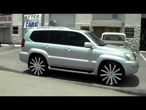"877-544-8473 26"" Inch Velocity VW12 Black Rims 2003 Lexus GX470 Review Wheels Free Shipping"