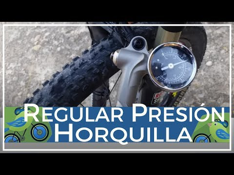 Cómo regular la presión de la horquilla neumática de aire en bicicleta