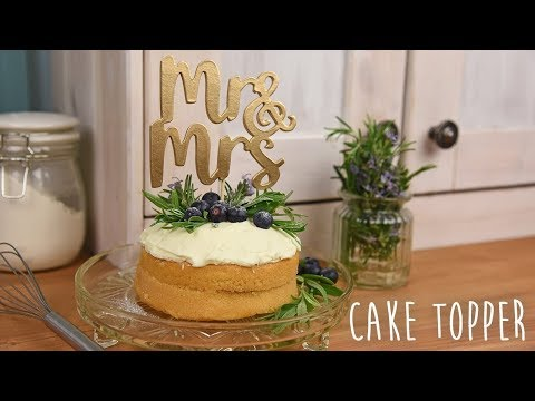 Mr & Mrs Cake Topper - Sizzix