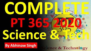 COMPLETE VISION IAS PT 365 UPSC 2020 SCIENCE & TECHNOLOGY