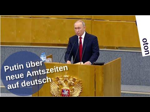 Putin über neue Amtszeiten auf deutsch [Video]