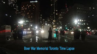 Boer War Memorial Toronto Time Lapse