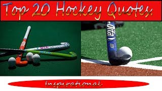 Inspirational Video About Hockey In English. Top 20 Motivational Quotes About Hockey.