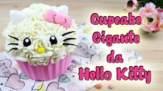 Cupcake Gigante Da Hello Kitty | Como Fazer Cupcake Gigante Da Hello Kitty | Cakepedia