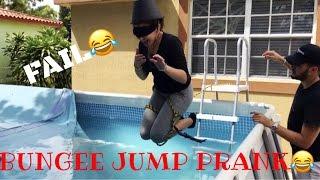 BUNGEE JUMP PRANK ON GIRLFRIEND !!!!