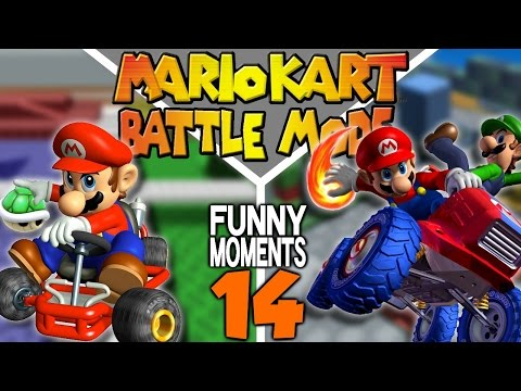 Battle Mode Funny Moments! Mario Kart Montage 14!!
