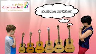 Gitarre lernen Kinder - Die richtige Gitarrengröße für Kinder