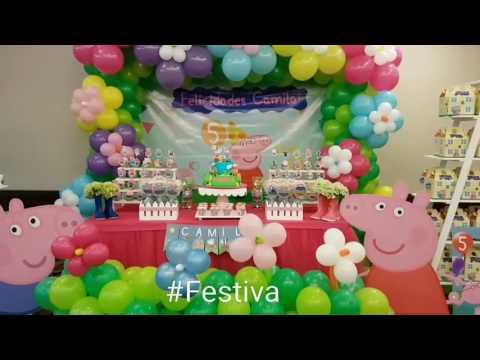 Decoración de Fiesta inspirada en Peppa Pig - Peppa Pig Party | Festiva.