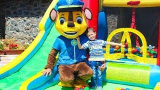 Щенячий патруль Детская площадка Новый Батут для детей Paw Patrol with kids outdoor playground
