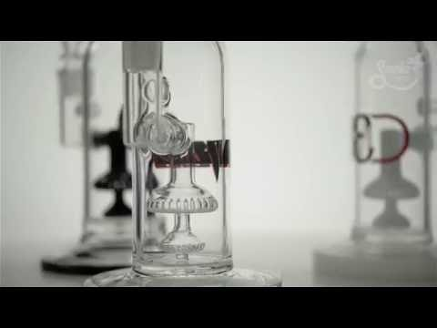 Three Monkey Designs Straight Tube with Double Shower Head Perc on Youtube