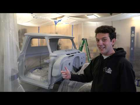 '66 C10 is Primed! DIY Painting Paint Booth Tips and Tricks