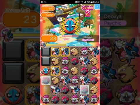 Pokemon Shuffle Mobile Main Stage 640 Deoxys (Defense Forme) S Rank & Caught『ポケとる スマホ版』