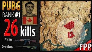 PUBG Rank 1 - Shroud 26 kills [NA] Solo FPP - PLAYERUNKNOWN