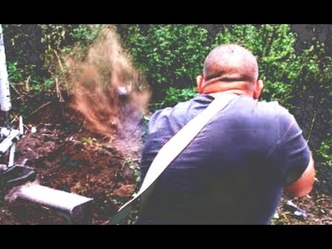 Shooting rats with the help of a digger