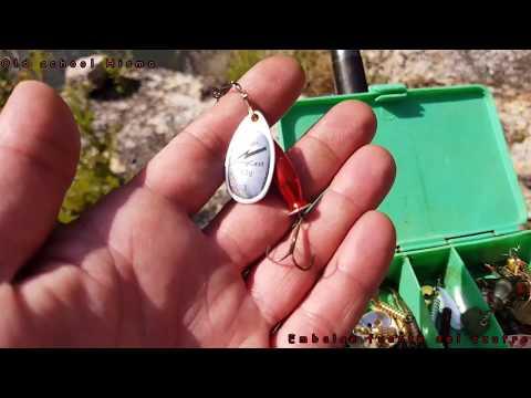 3 buenas truchas en embalse como pescar en embalse (Fuente del azufre)El Bierzo