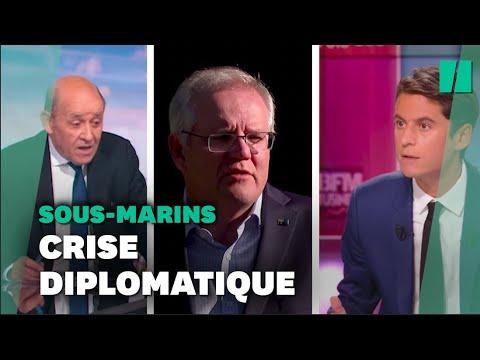 Crises des sous-marins: tension diplomatique entre la France, Les États-Unis et l'Australie