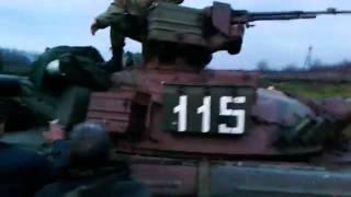 г.Родинское самооборонцы ловят украинский танк