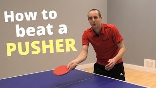 How to beat a pusher