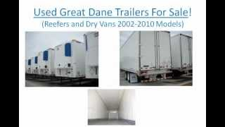 Nice, Used Great Dane Trailers For Sale Nationwide - Reefers, Dry Vans. 2005, 2006, 2010. Sales