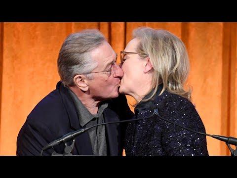 Meryl Streep Plants a Big Kiss on Robert De Niro at National Board of Review Gala -- Watch!