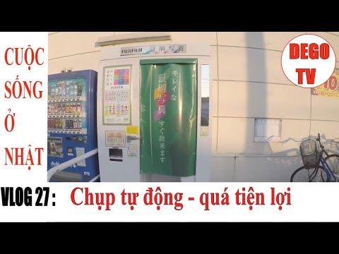 Vlog 27 : Máy chụp hình thẻ tự động ở Nhật | DEGO TV