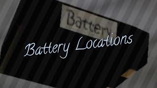 Granny - Battery Locations.