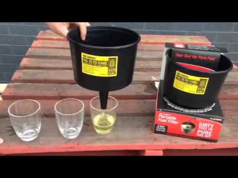 Mr Funnel Portable Fuel Filter Demo, Now available @ www.westernfilters.net.au