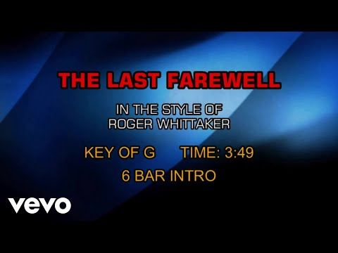 Roger Whittaker - The Last Farewell (Karaoke)