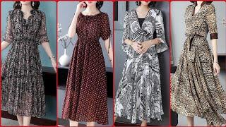 Gorgeous Fabulous And Elegant Stylish Floral Print Long Maxi Dress Design 2020