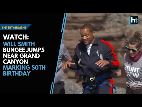 Watch: Will Smith bungee jumps near Grand Canyon marking 50th birthday