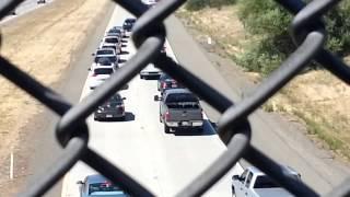 Cops block off freeway
