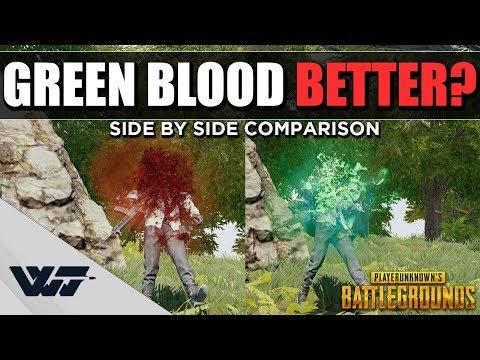 Wacky測試:綠血看起來有比較明顯嗎?
