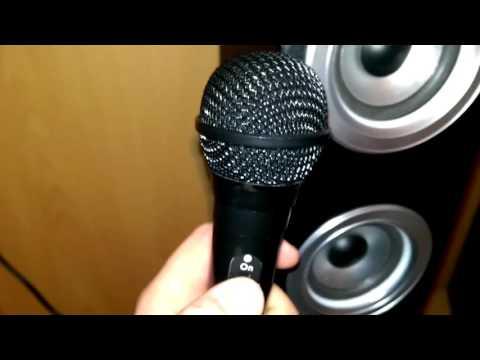 auna Karaboom LED Bluetooth-Lautsprecher USB AUX UKW Karaoke 2x Mikrofon