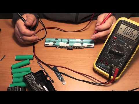 Как восстановить аккумулятор ноутбука, пример ремонта - Часть 1