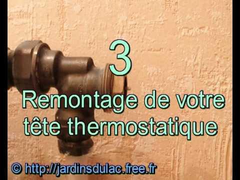 comment poser thermostat radiateur