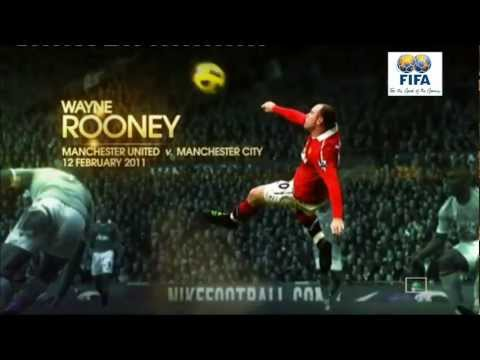 The 3 Best Goals Of The Year 2011 (Neymar, Rooney and Messi)