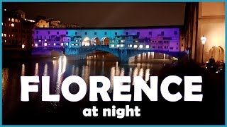 Florence Christmas Lights - A Walking Tour in 4K