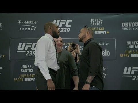 Le face à face de l'UFC 239 lors du media day