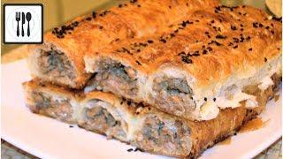 Вкусный Пирог с мясом. Турецкий Бурек с мясом из теста Фило